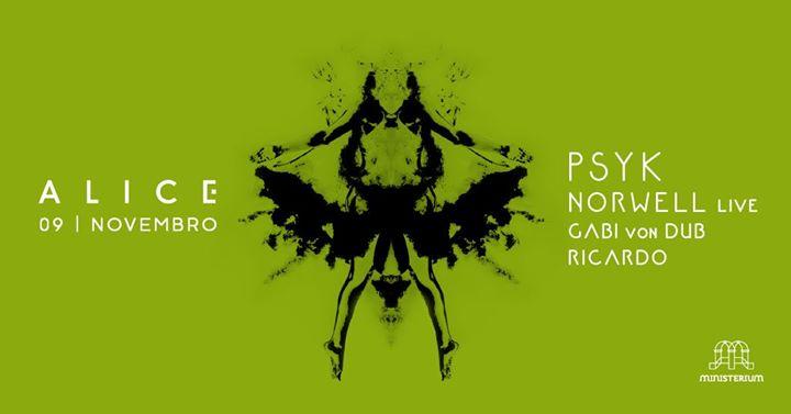 A L I C E 3.1 Psyk » Norwell live » Gabi von Dub » Ricardo