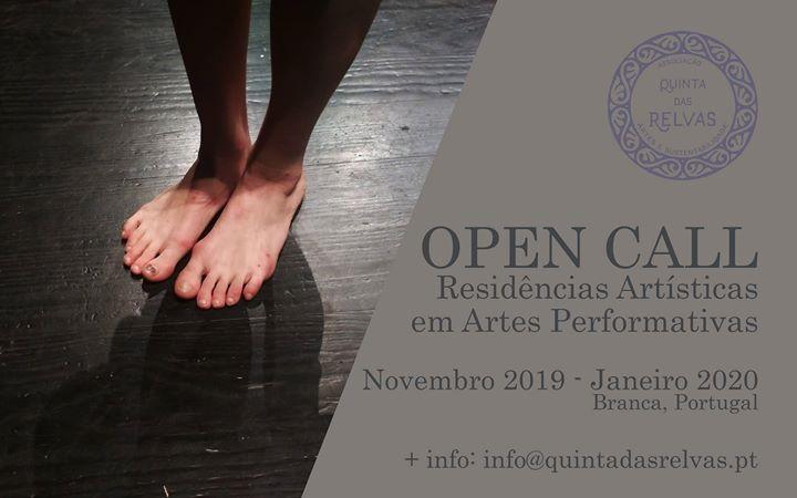 OPEN CALL - residência em Artes Performativas