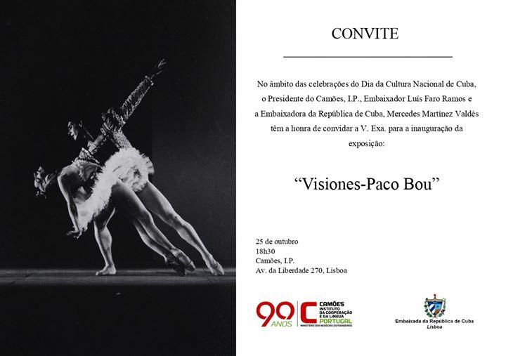 """Inauguração da exposição: """"Visiones-Paco Bou"""""""