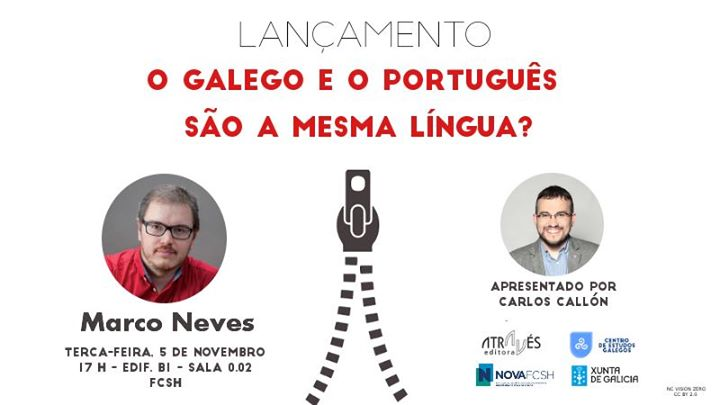 Lançamento do livro «O Galego e o Português são a mesma língua?»