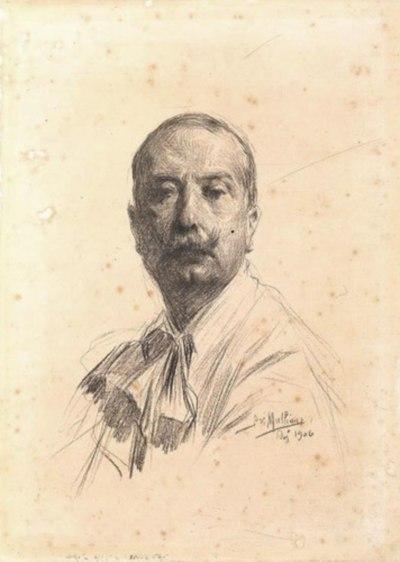 Um estudo de José Malhoa, por Maria de Aires Silveira