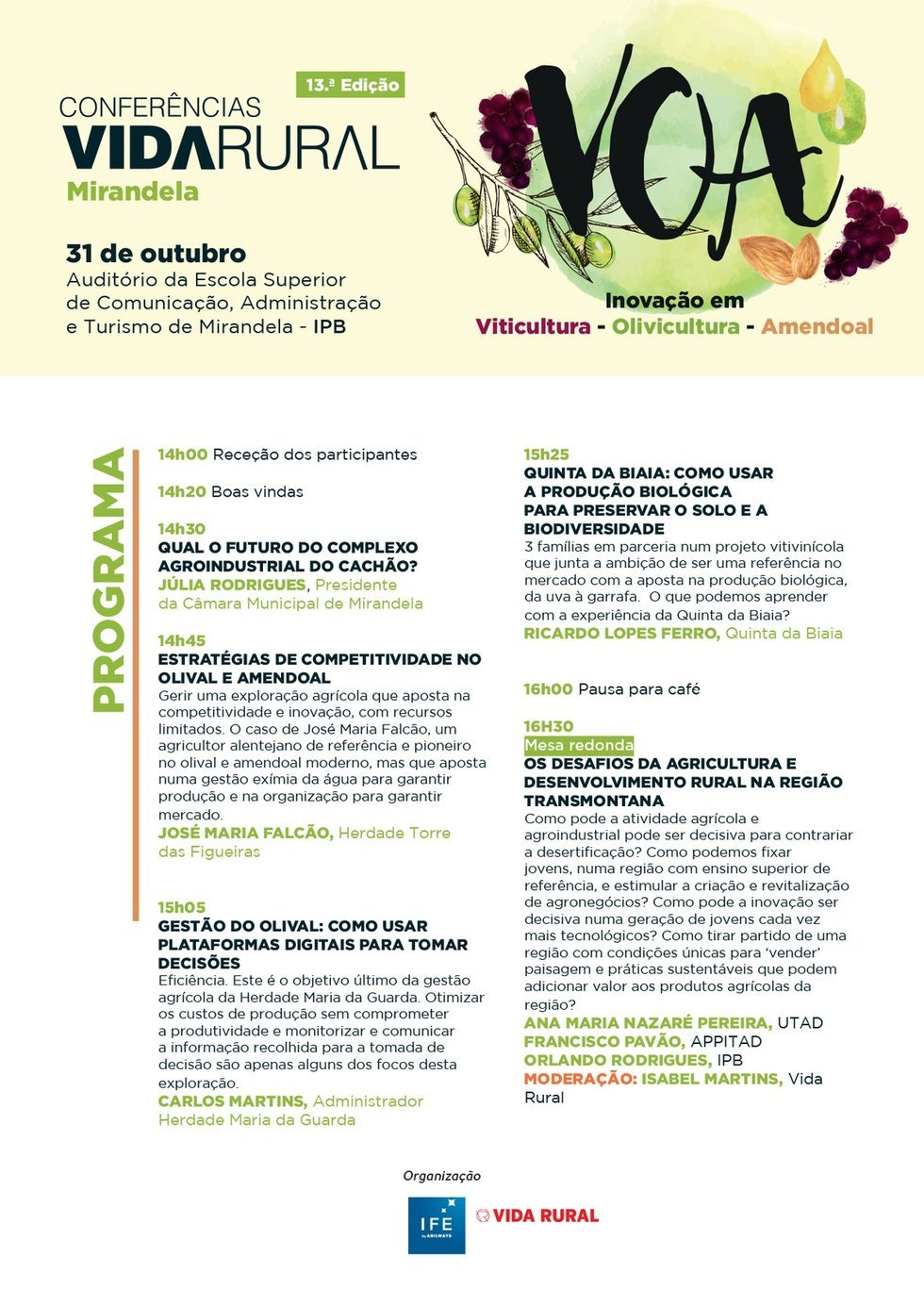 Conferência Vida Rural: Viticultura, ...
