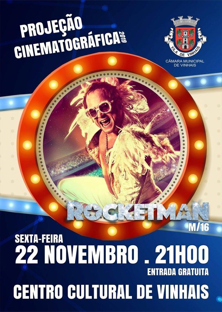 "Projeção cinematográfica ""Rocketman"""