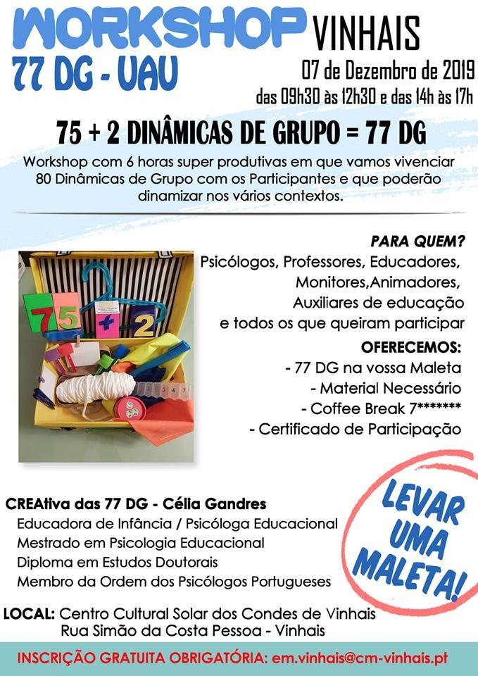 Workshop – 77 Dinâmicas de Grupo