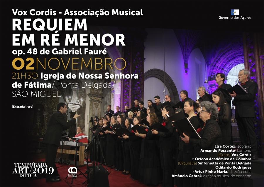 Requiem em Ré menor, op. 48 de Gabriel Fauré | Temporada Artística 2019