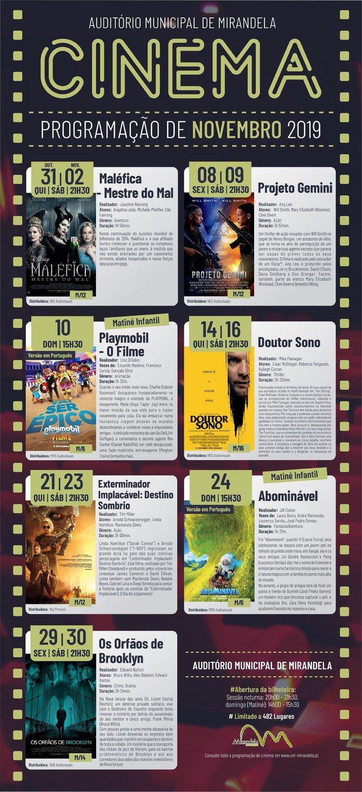 Cinema: Novembro 2019