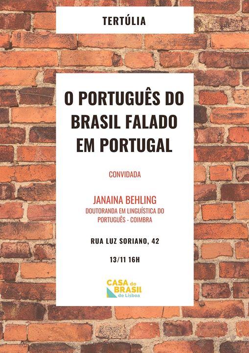 Tertúlia: O Português do Brasil Falado em Portugal