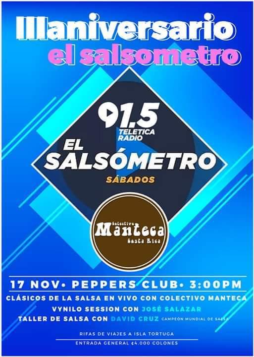 El Salsometro 3er Aniversario, Salsa Clásica en vivo.