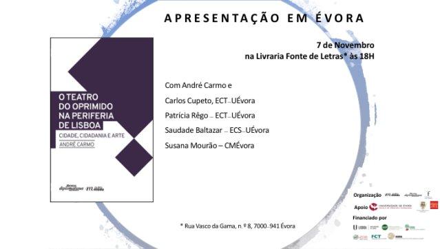 Apresentação do livro 'O Teatro do Oprimido na Periferia de Lisboa'