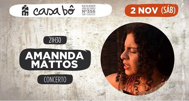 Concerto: Amannda Mattos canta Sambas, Ijexás e Boleros