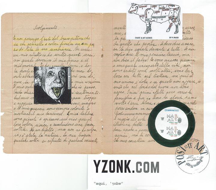 Exposição de Arte Postal - aqui, 'ᴉnbɐ - #010