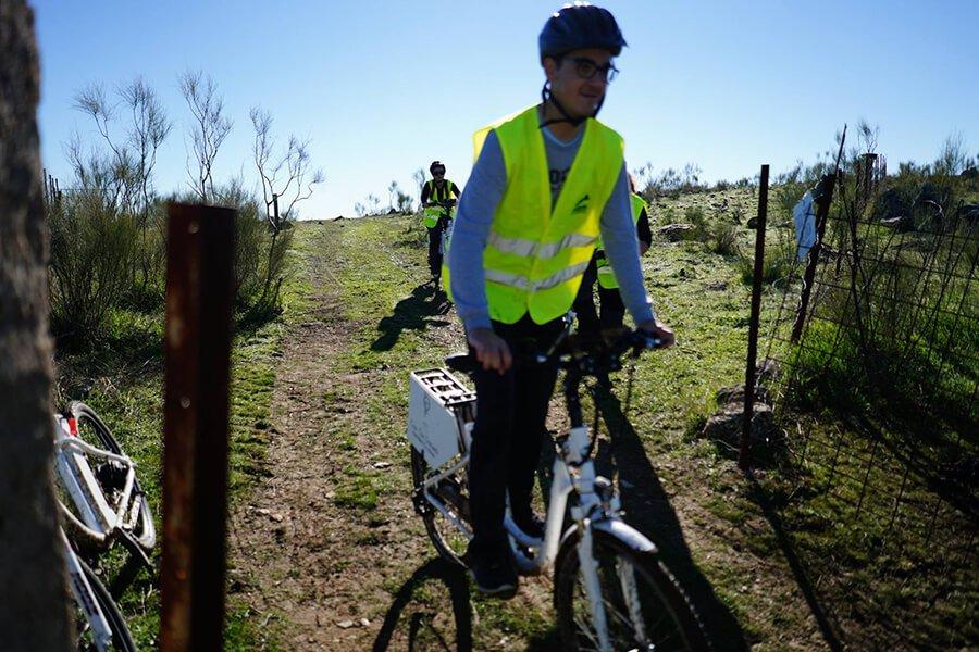 Bajada al Salor en Bicis Eléctricas