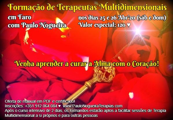 Curso de Terapia Multidimensional em Faro - Abr'20