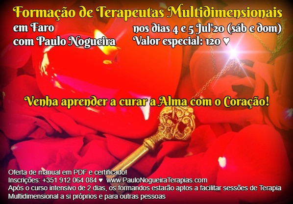 Curso de Terapia Multidimensional em Faro - Jul'20