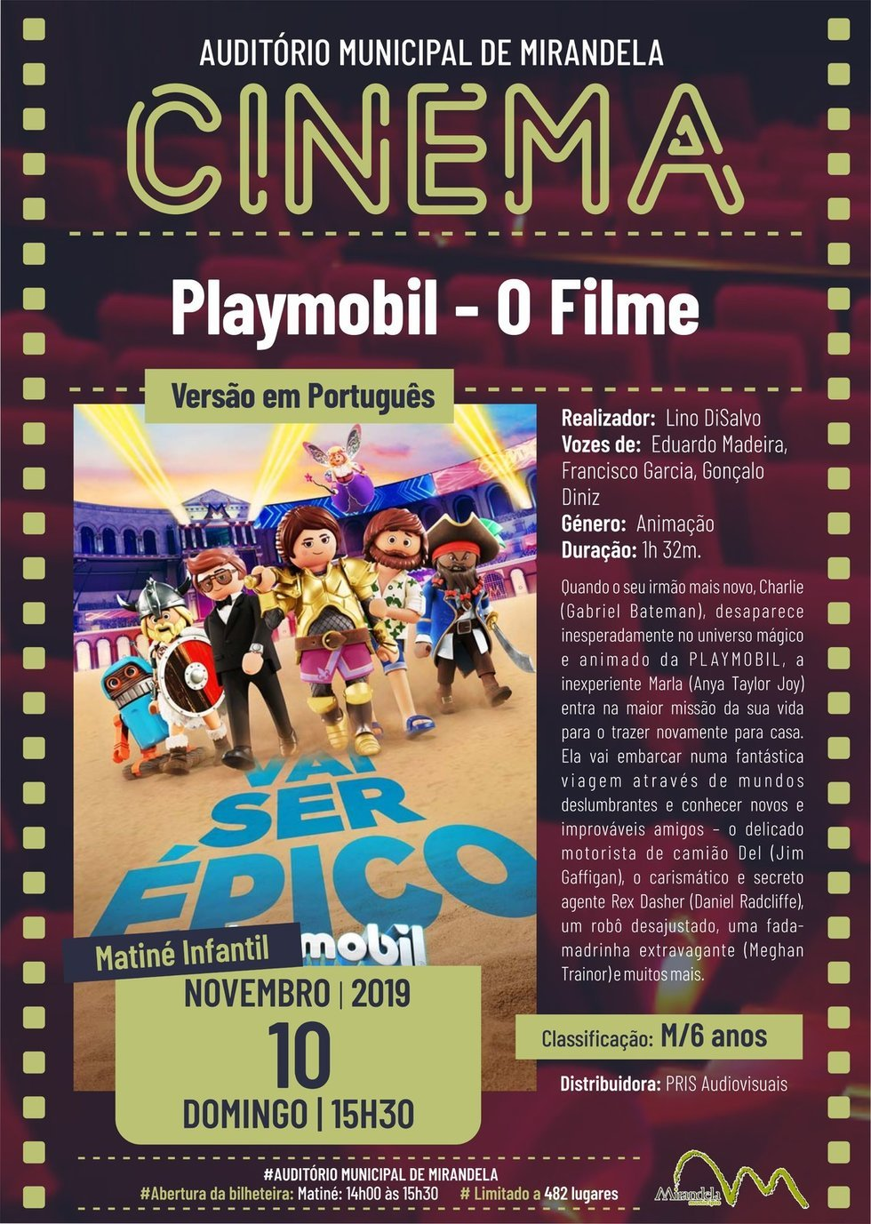 Cinema: Playmobil - O Filme