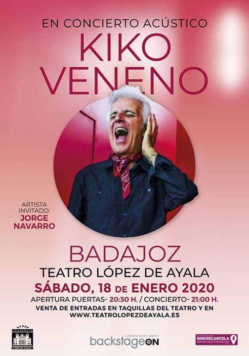 KIKO Veneno en concierto acústico Badajoz