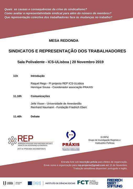 Mesa redonda: Sindicatos e representação dos trabalhadores