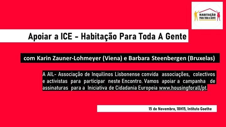 Encontro - Apoiar a ICE, Habitação para Toda a Gente