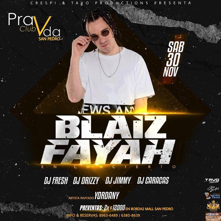 Blaiz Fayah En Concierto Pravda Club Sabado 30 De Noviembre
