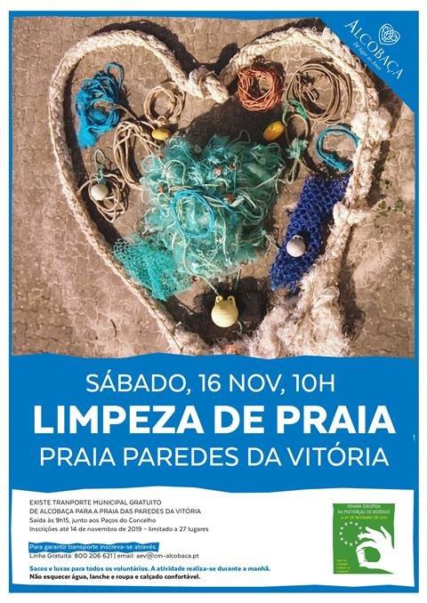 ambiente :: Limpeza da Praia Paredes da Vitória
