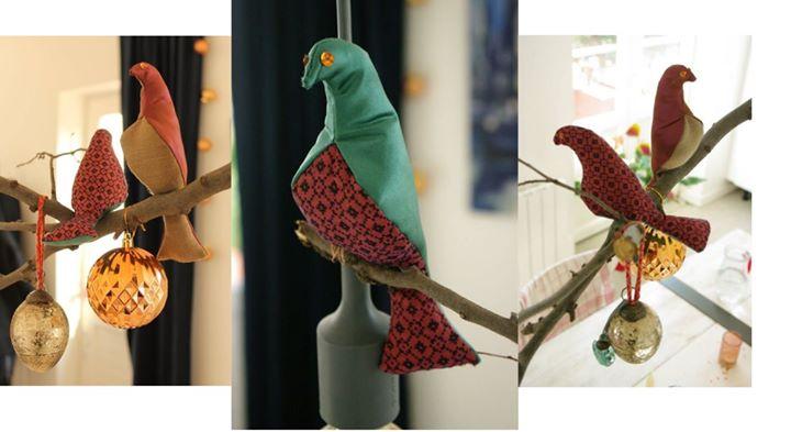 Oficina de Pássaro em tecido