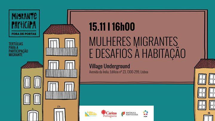 Tertúlia: Mulheres Migrantes e Desafios à Habitação