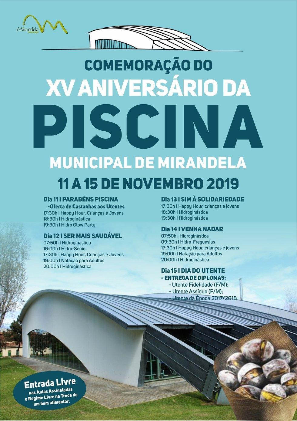 XV Aniversário Piscina Municipal