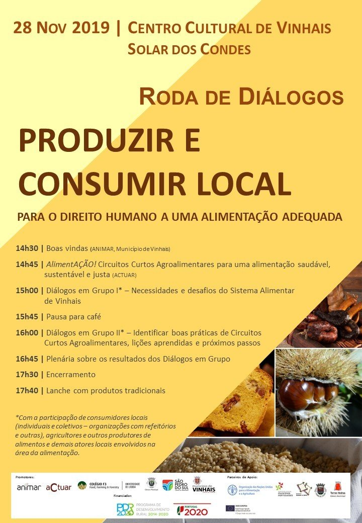 Roda de diálogos 'Produzir e Consumir Local'
