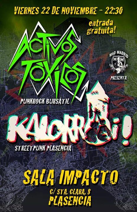 ACTIVOS TÓXICOS y KALORROI concierto punk