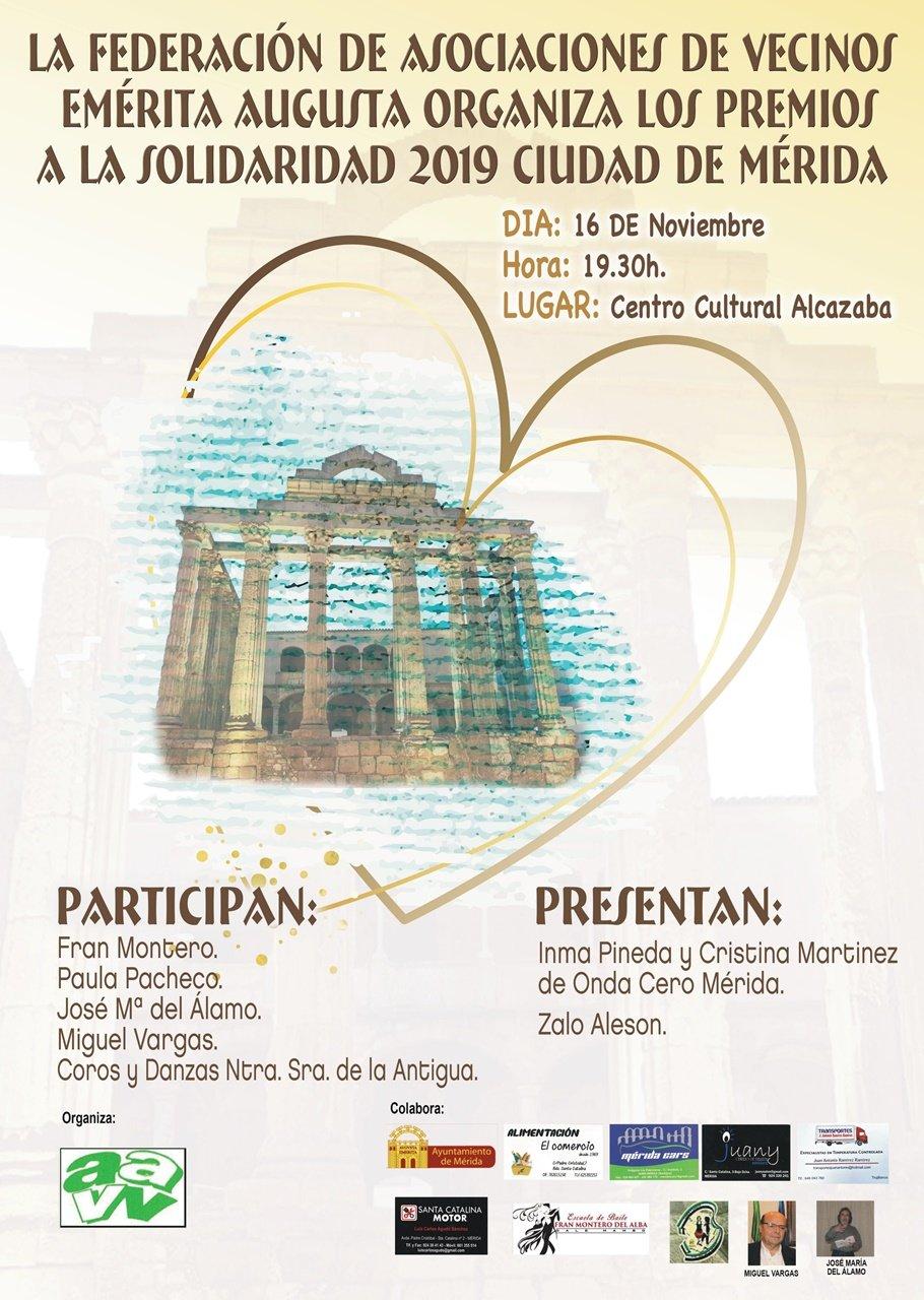 Gala Premios Solidaridad 2019 de la Asociación de Vecinos