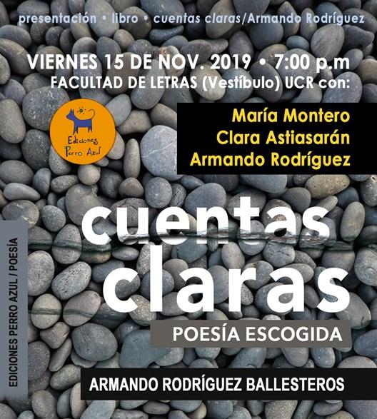 """Presentación de """"Cuentas Claras"""" de Armando Rodríguez Ballestero"""