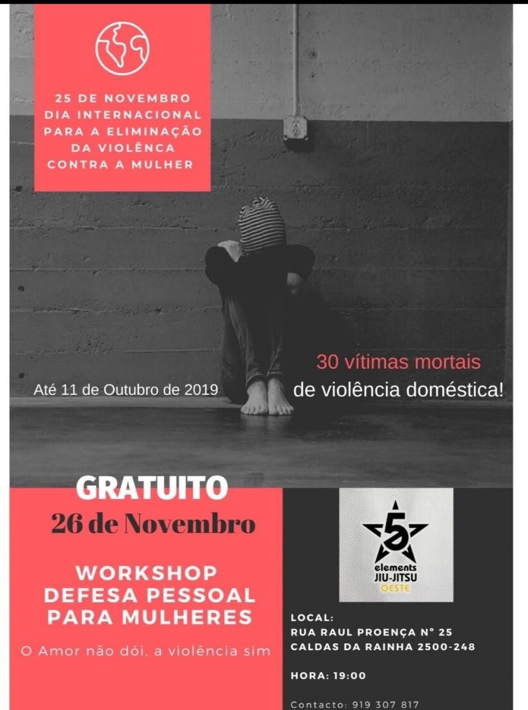 Workshop 'Defesa Pessoal Para Mulheres' (Gratuito)