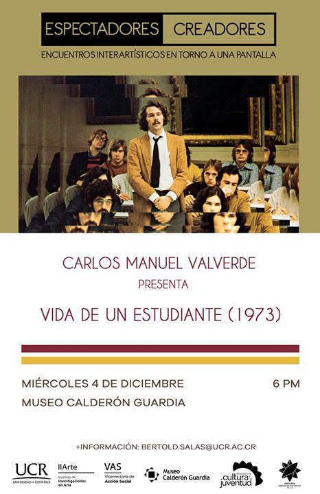 Carlos Manuel Valverde presenta 'Vida de un estudiante'