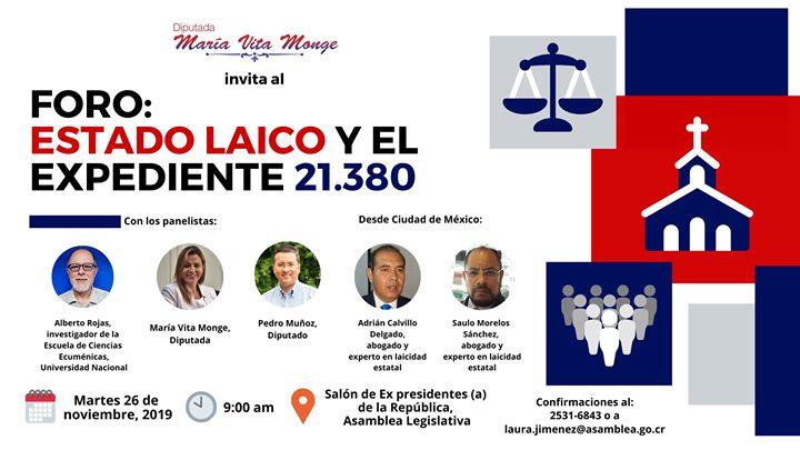 Foro: Estado Laico en Costa Rica y el expediente 21.380