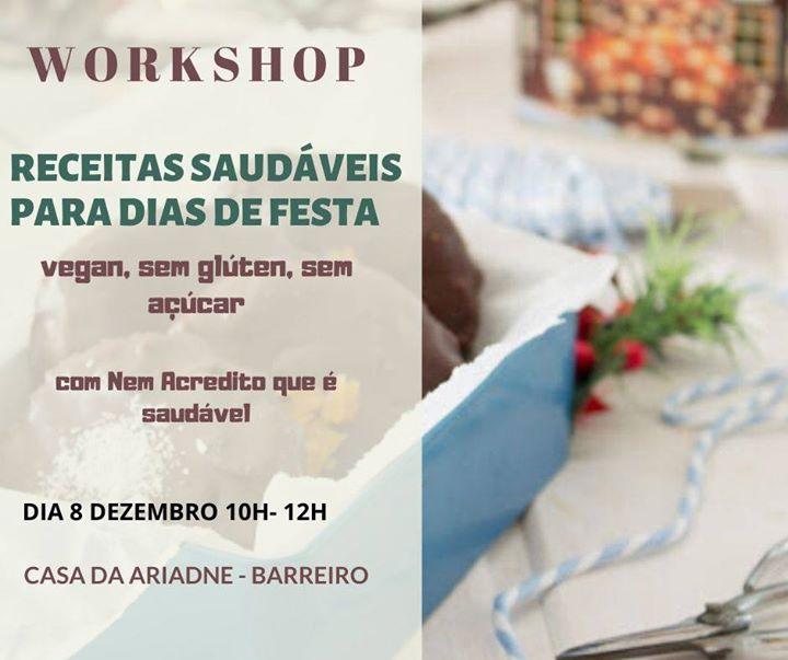 Workshop de receitas saudáveis para dias de festa