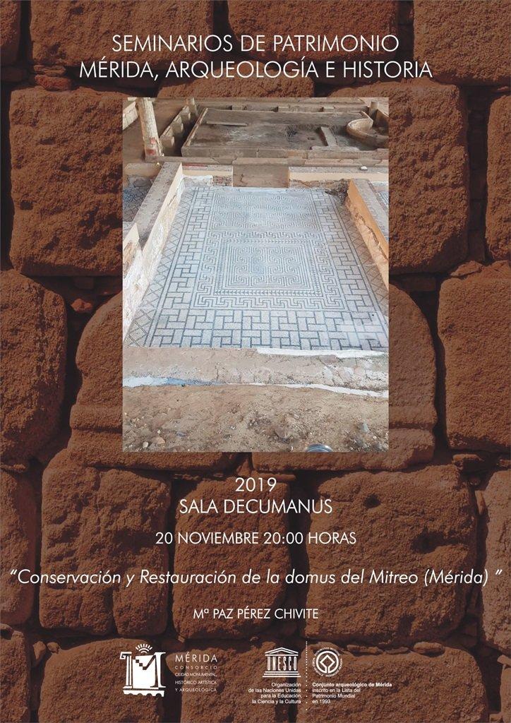 """Seminarios de Patrimonio: """"Conservación y restauración de la domus del Mitreo"""""""