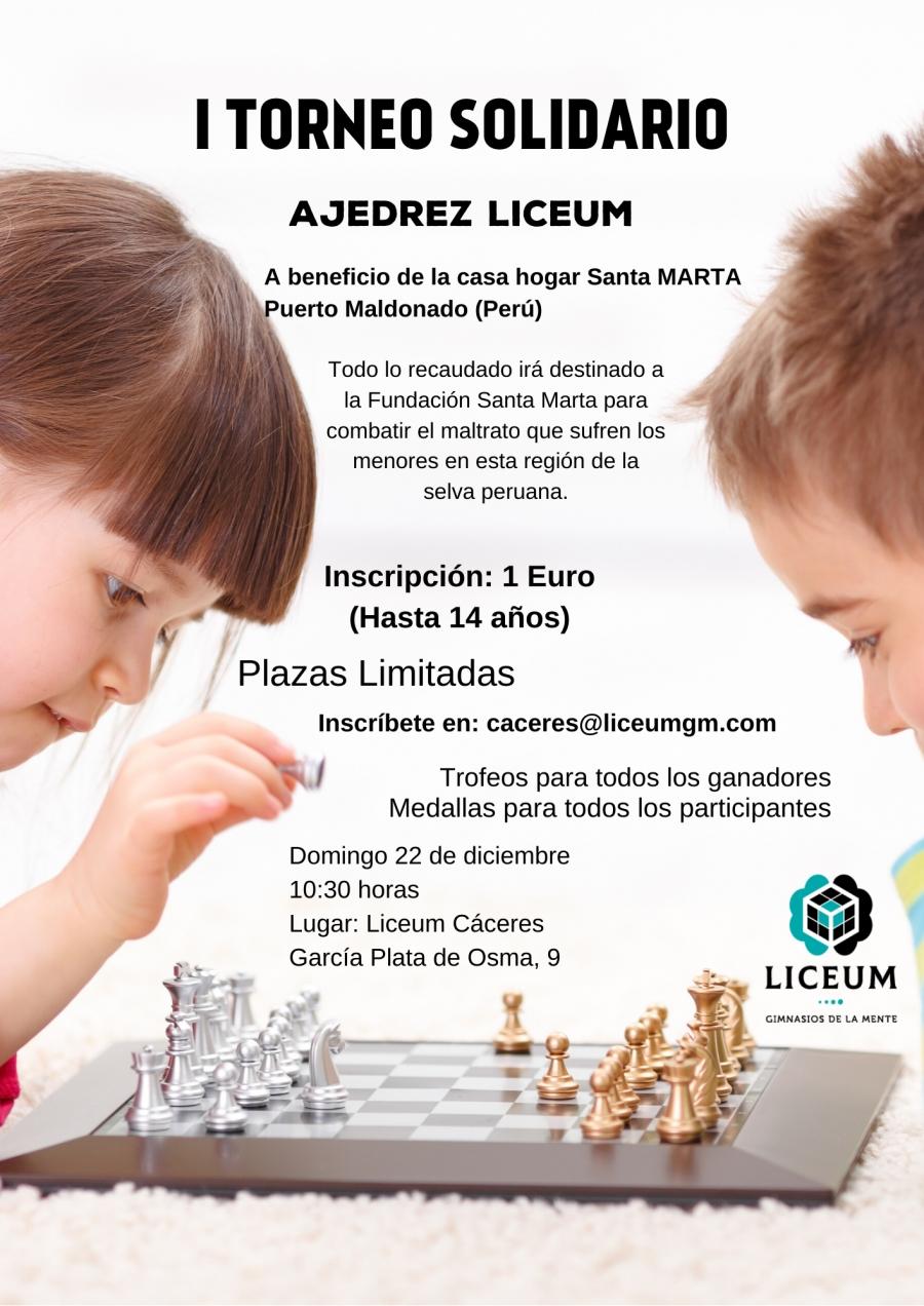 I Torneo Solidario. Ajedrez Liceum.