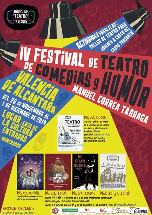IV Festival de Teatro de Comedias y Humor Manuel Correa Tárraga