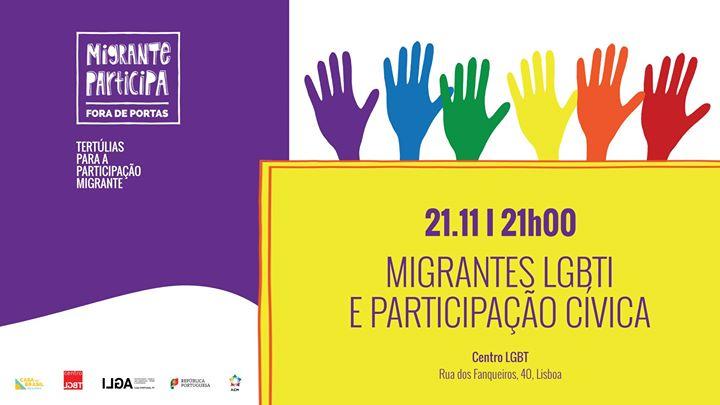 Tertúlia: Migrantes LGBTI e Participação Cívica