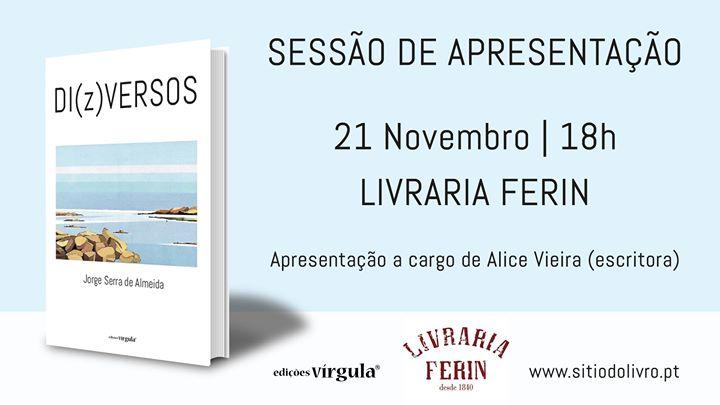 Apresentação de 'DI(z)VERSOS', poesia de Jorge Serra de Almeida