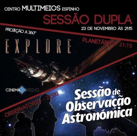 Sessão Dupla: Planetário + Observatório