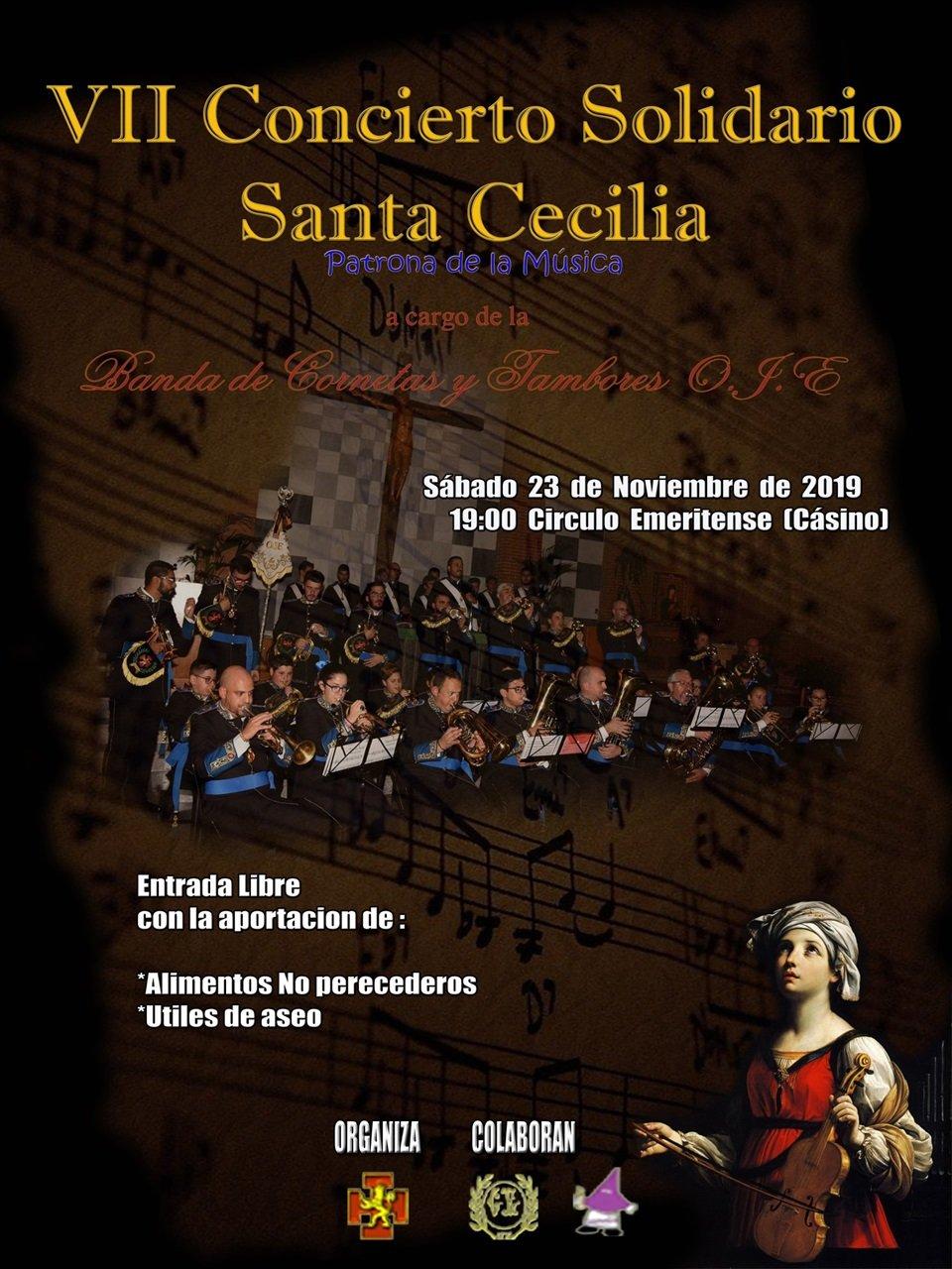 VII Concierto Solidario Santa Cecilia de O.J.E. Mérida
