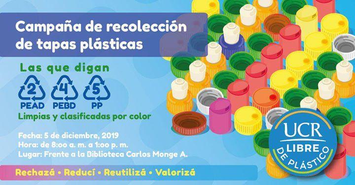 Campaña de recolección de tapas plásticas