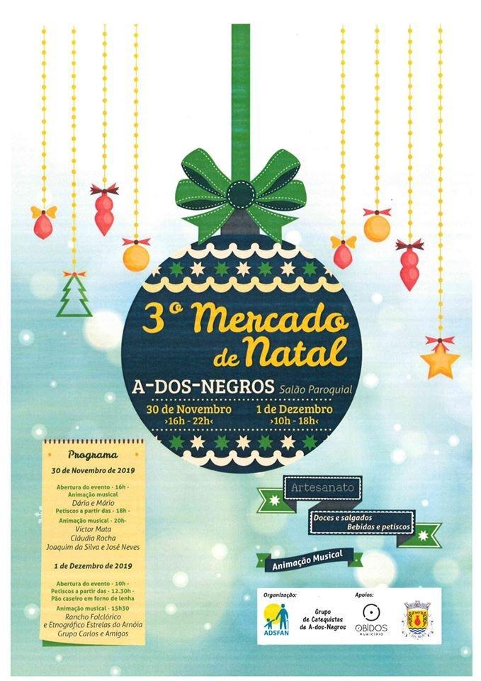 3º Mercado de Natal 2019   A-dos-Negros