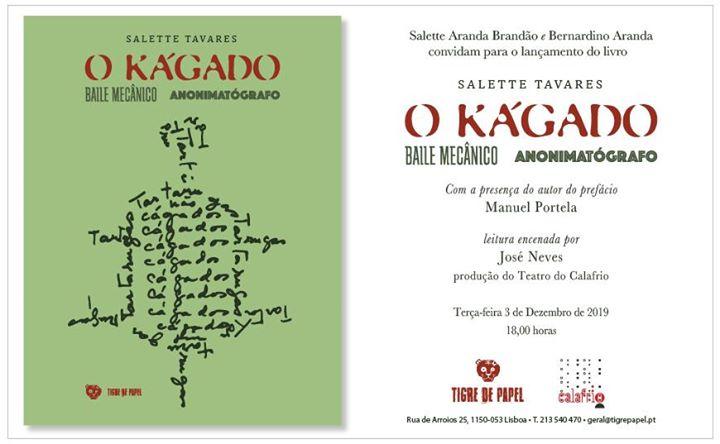 Lançamento do livro O Kágado, de Salette Tavares