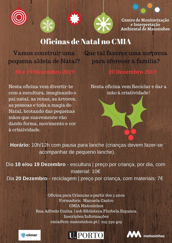 Oficinas de Natal no CMIA