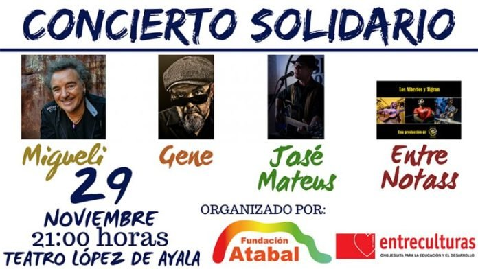 Concierto solidario Fundación Atabal y Entreculturas Extremadura