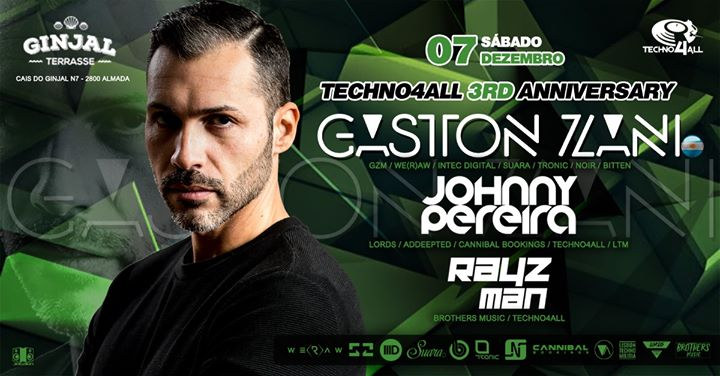 Techno4All 3rd Anniversary - Gaston Zani (ARG) - Free Party
