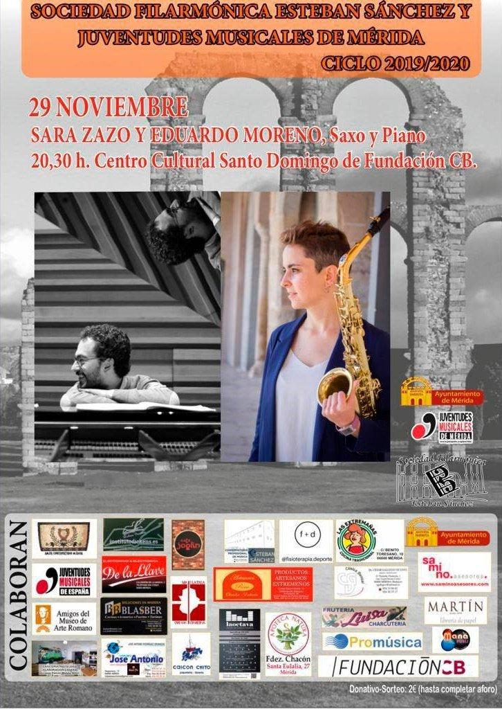 Concierto de Sara Zazo (Saxo) y Eduardo Moreno (Piano)