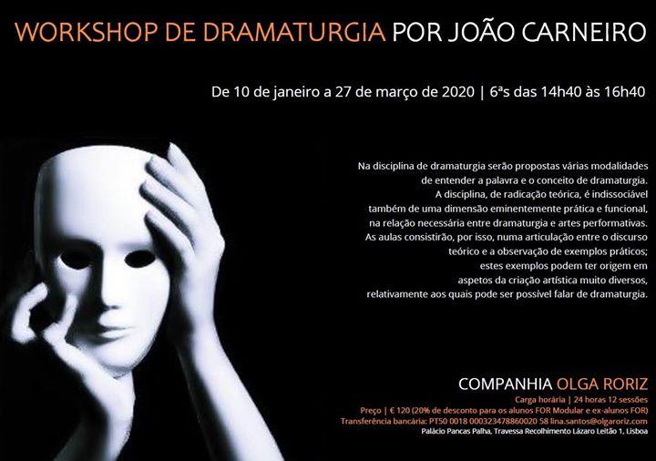 Workshop de Dramaturgia por João Carneiro